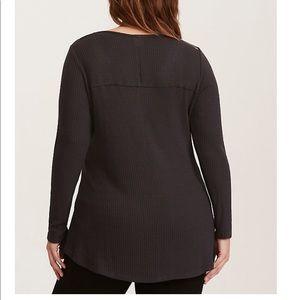 torrid Sweaters - LEGENDARY GRAPHIC STUDDED NECK WAFFLE KNIT TUNIC